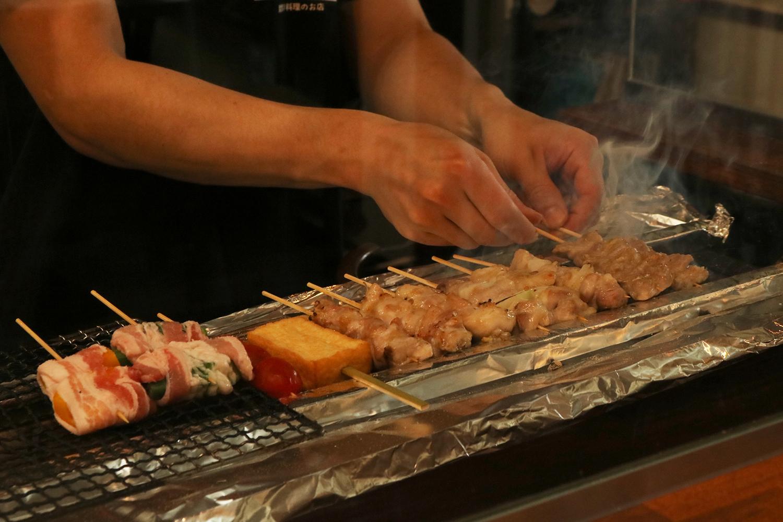 炭火焼 日本酒 野菜